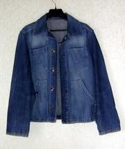 Продаётся детский джинсовый пиджачок  размер 34/140